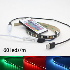 50CM 5V 5050 RGB LED Strip Light Colour Changing USB TV PC Back Mood Lighting