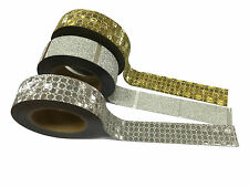 Silver and Gold Holographic Glitter Craft Tape Trio – 15mm x 10 metres