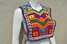 Kuchi Afgana TRIBAL Fusion Choli Belly Dance Fatto A Mano stitchable Crop Top kc-528