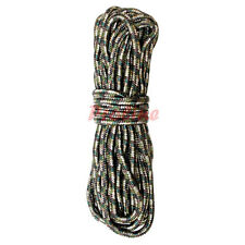 3/8'' x 50 Ft. Utility Rope 1350 lbs Tensile Strength Tie Down Strap-GREEN CAMO