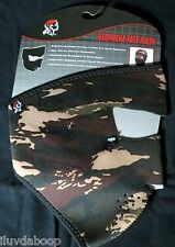 Neoprene Tigerstripe Camo Face Mask Motorcycle snow skiing bicyclist ATV