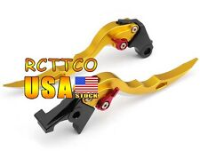 Gold Blade Brake Clutch Levers For BUELL XB12 all models up to 08 only 2004-2008
