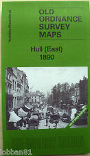 Old Ordnance Survey Map Hull East  Yorkshire 1890 S240.03 Coloured Edition New