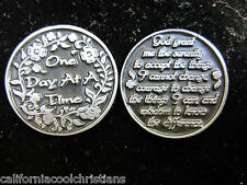 """""""One Day At A Time"""" -  Serenity Prayer Coin"""