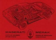 Maserati Merak Car Parts manual Catalogue Book paper