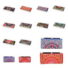 Hot Ethnic Wallet Personalized Women Long Embroidery Purse Holder Button Handy