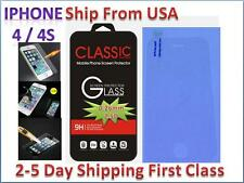 New for Apple iPhone4 / 4s Premium Real Temper Glass Screen Protector