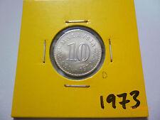 D: Malaysia 10 sen coin 1973 - UNC