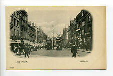 England - Liverpool, Lord Street view, people, trolleys, stores, signs, early