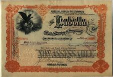 Isabella Gold Mining Company Stock Certificate Colorado