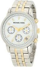 Michael Kors MK5057 Ritz Women's Two-tone Chronograph Authentic Watch New in Box