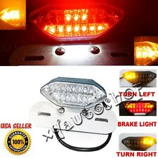 12V LED FENDER ELIMINATOR INTERGRATED TURN SIGNALS TAIL LIGHT DUAL SPORTS ATV