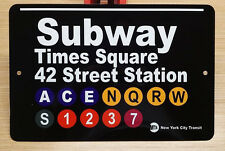 NYC Subway sign Times Square 42 street Station Railroad  New York City Train