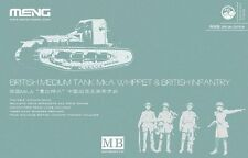 Meng Model 1/35 TS-021s British Medium Tank Mk.A Whippet & British Infantry