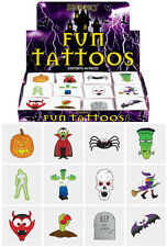 36 adulto Kids Halloween Horror Zombie temporanea MINI TATUAGGI PARTY BORSA FILLER