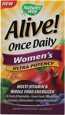 Alive Once Daily Women's Multi-Vitamin Ultra Potency, Nature's Way, 60 tablet