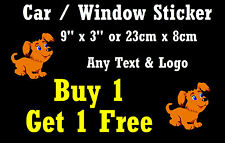 "YOUR OWN DESIGN - FUN CAR / WINDOW STICKER + 1 FREE -  BRAND NEW - GIFT 9"" x 3"""