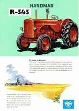 Hanomag R-545 Tractor Original Sales Brochure In Swedish