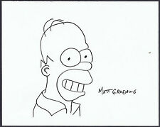 "Matt Groening ""Homer Simpson"" Original handsigned marker drawing - FAR Tag"