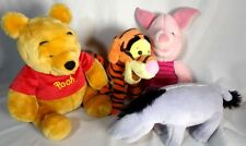 4 Winnie The Pooh Eeyore Piglet Tigger Stuffed Animal Toys Disney Characters