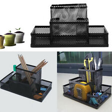 Metal Mesh Home Office Pen Pencils Holder Desk Stationery Storage Organizer Box