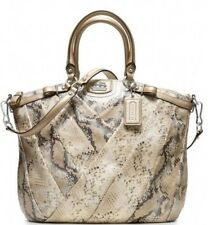 Coach Madison Diagonal Pleat LINDSEY  Exotic Metallic Embossed Python ! L@@k!