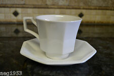 Johnson Brothers Heritage  White Octagon Cup & Saucer  Made in England