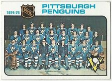 1975-76 TOPPS HOCKEY #93 PENGUINS TEAM CHECKLIST - VERY GOOD+