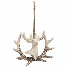 Clayre Eef Christmas Decoration Stag Christmas decorations Polyharz 13 4 9 cm