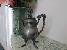 c.1898 WILCOX Gothic HORSE HOOF Quadruple Silverplate Syrup Victorian