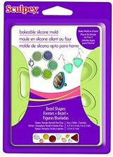 Polyform (Sculpey) Bakeable Mold, Bezel shapes, silicone mold - NEW - #APM80