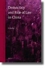 2010-05-20, Democracy and the Rule of Law in China (Issues in Contemporary Chine