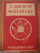The Book Of The Wolseley 2nd Edition Dust Jacket 1949
