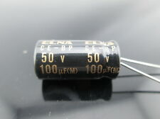 2pcs Elna Capacitors RBD 100uf 50V Audio Series Bi Polar Capacitors