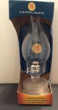 LAMPLIGHT Frosted Glass - The Original OIL LAMP - NEW in box - HOME / CAMPING