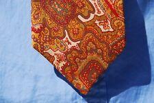 Higbee's Vintage Gentleman's 100% Silk Paisley Necktie England