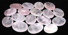 CARVED - ROSE QUARTZ Crystal Worry Stone w/ Description - Healing, Love, Reiki