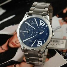 Dual Movement Double Dial Analog Mens Watch Good Quality Work in two time zones