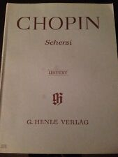 Chopin: Piano Sheet Music-Scherzi- Henle Edition- FREE SHIPPING IN USA!