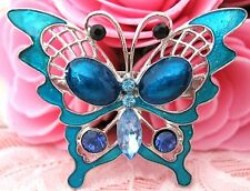 Girls Blue Crystal Rhinestone Brooch new