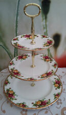 """Original Royal Albert """"Old Country Roses"""" Ex. Large 3-tier Cake stand"""