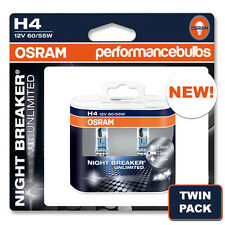 H4 OSRAM NIGHT BREAKER UNLIMITED FORD FUSION (JU_) 02- HEADLIGHT BULBS TWIN PACK