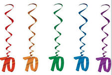 Look Who's 70! - 70th Birthday Hanging Whirls Decoration Set - 57551-70