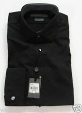 John Varvatos Mens Black Slim Fit TUXEDO Dress Shirt Size 14.5 32/33 $250