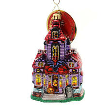 RADKO Haunted Hangout Halloween Glass Ornament Made in Poland New