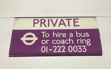"""Linen Bus Blind 1986 27""""- Private To Hire A Bus Or Coach Tel: 01-2220033"""