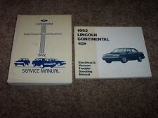 1992 Lincoln Continental Workshop Shop Service Repair Manual + Electrical Wiring