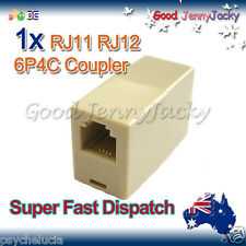 1 x RJ11 6P4C 4wire Coupler Female-F,Phone/Telephone Cable/Cord/Wire Joiner New