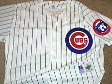 VTG AUTHENTIC 90's SAMMY SOSA CHICAGO CUBS MLB RUSSELL PINSTRIPE JERSEY 48 SEWN!