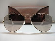 Authentic Ray-Ban RB 3025 001/3E Gold/Silver/Pink Mirror Aviator Sunglasses $220